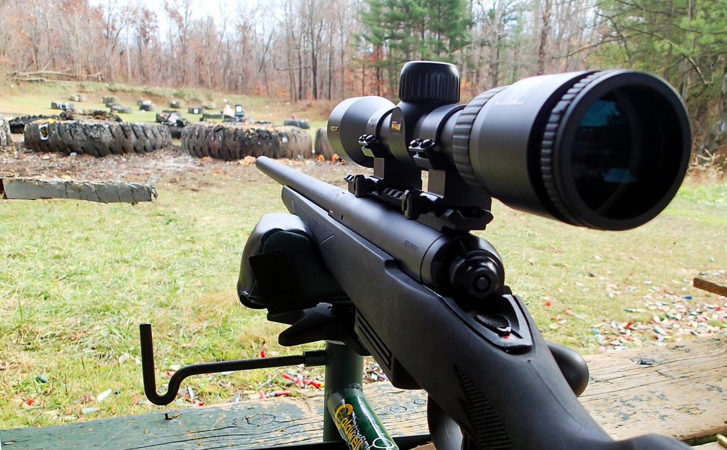 Savage Arms 220 Slug Gun: Sighting in for deer season